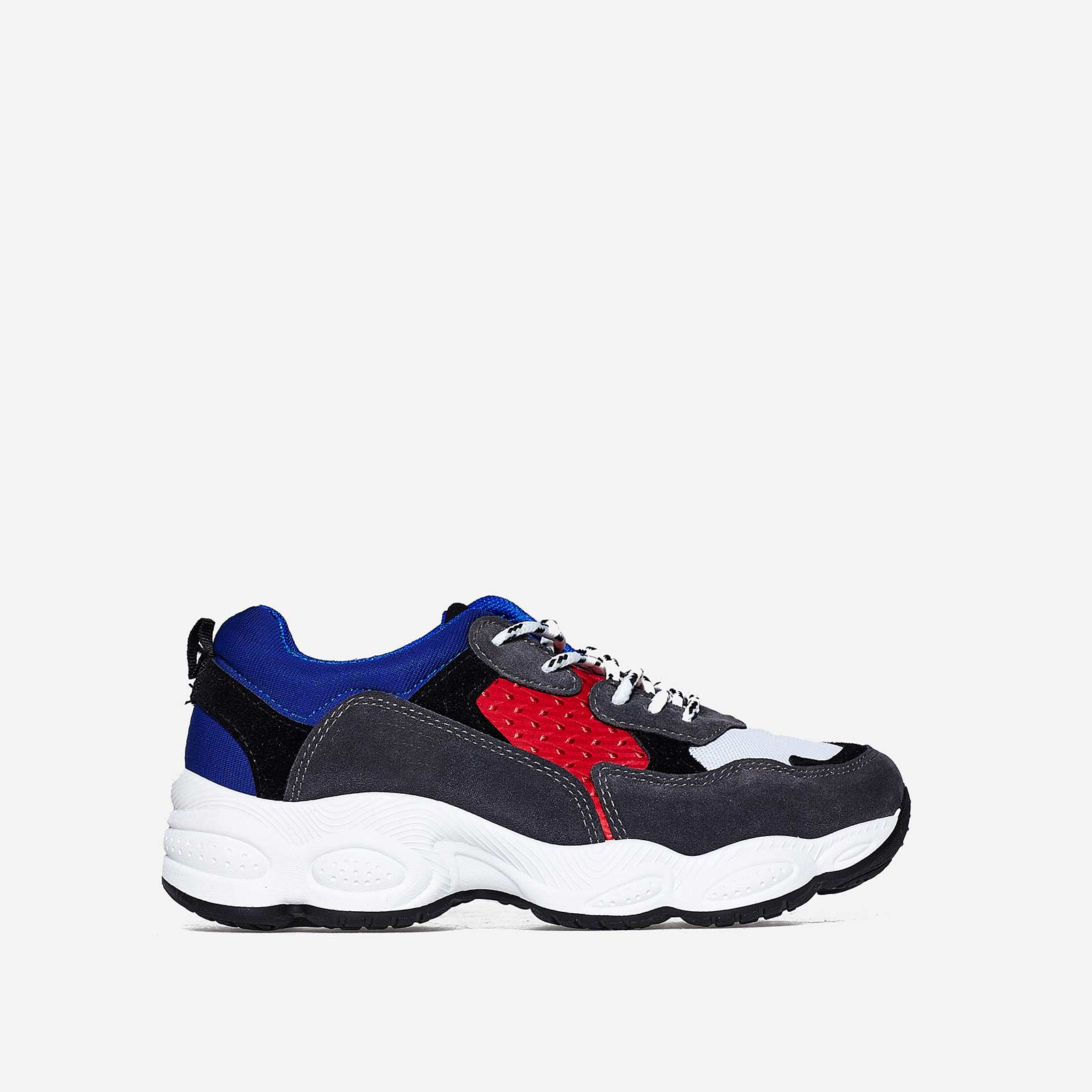 Kim Chunky Trainer In Red And Blue