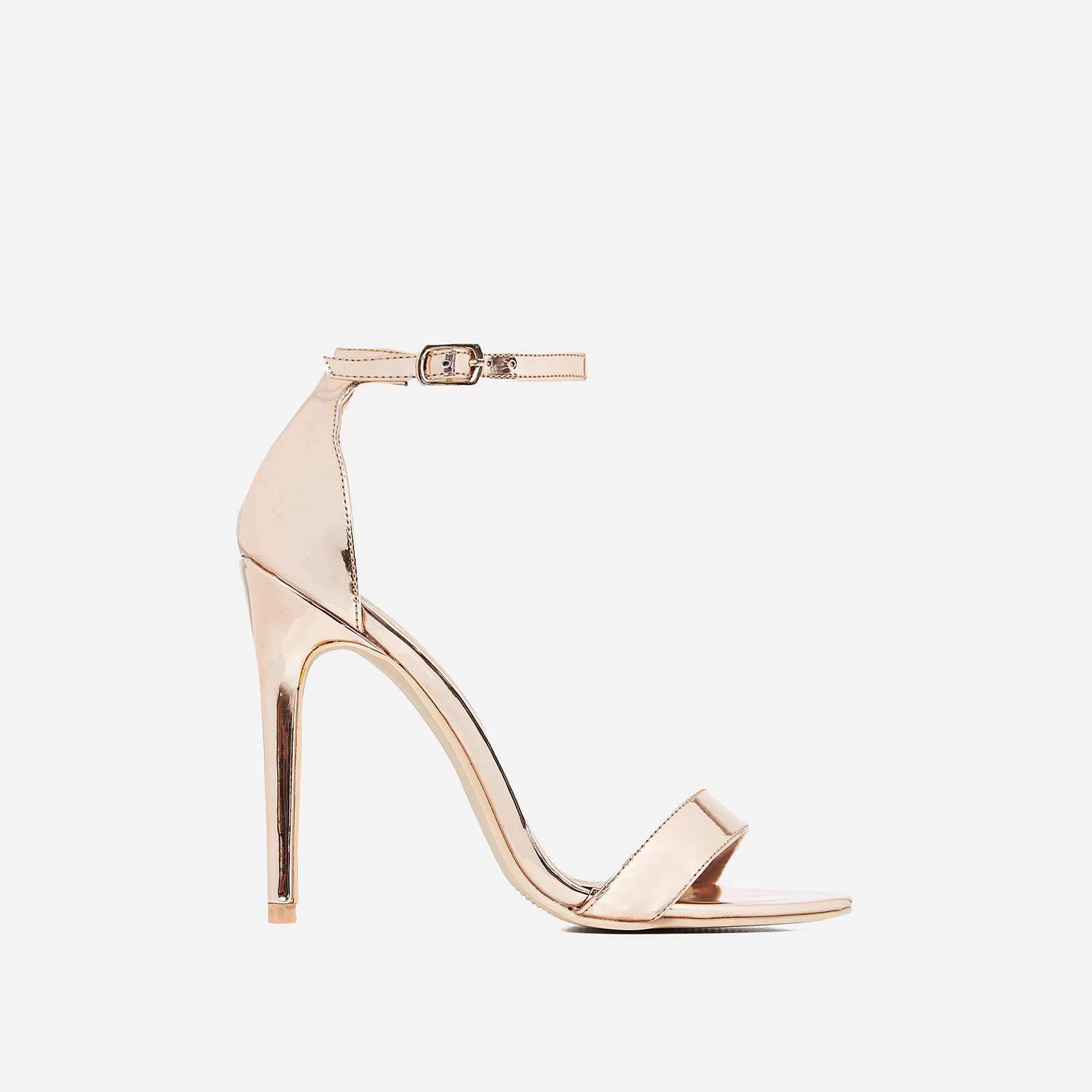 Angel Barely There Heel In Rose Gold Faux Leather