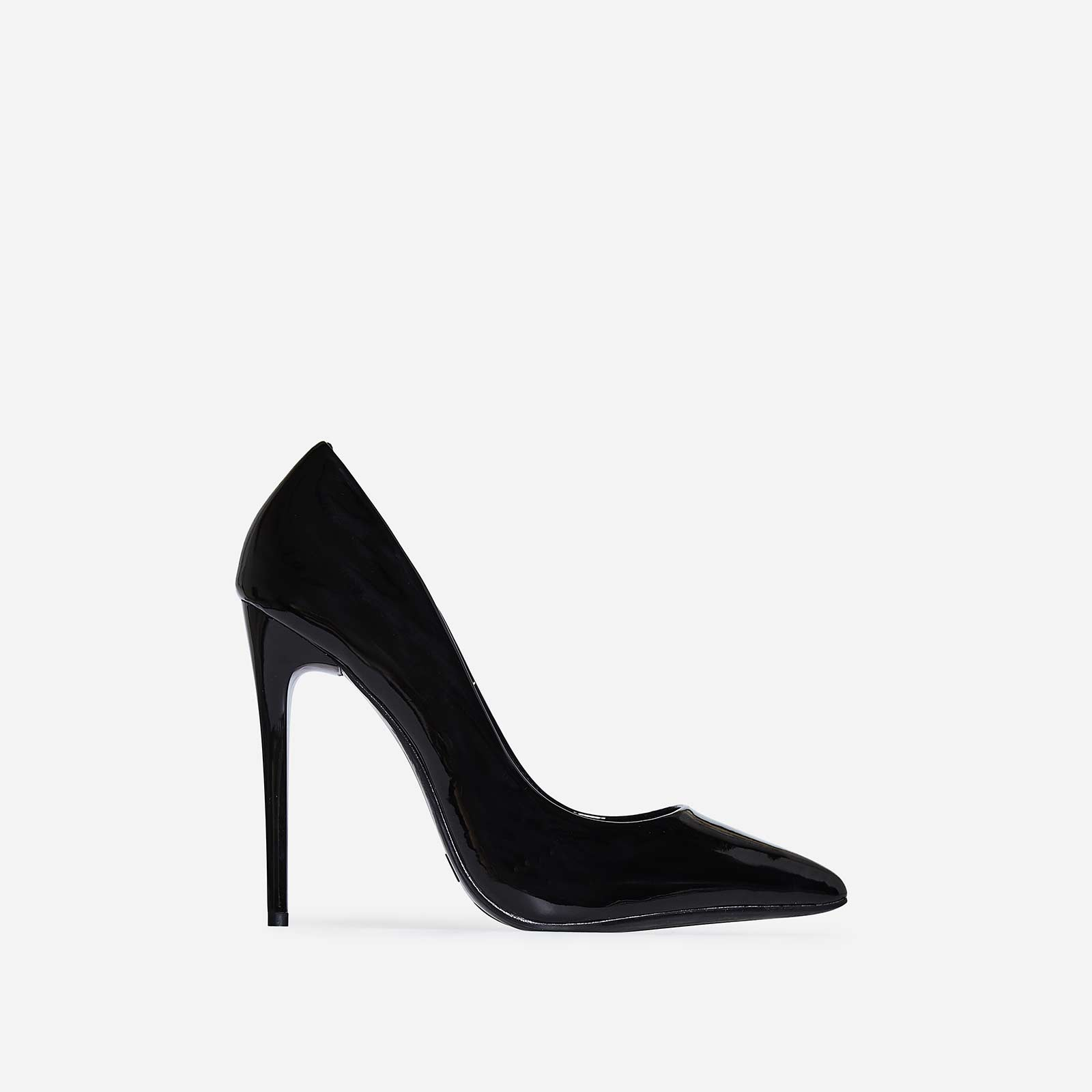 Bronte Court Heel In Black Patent