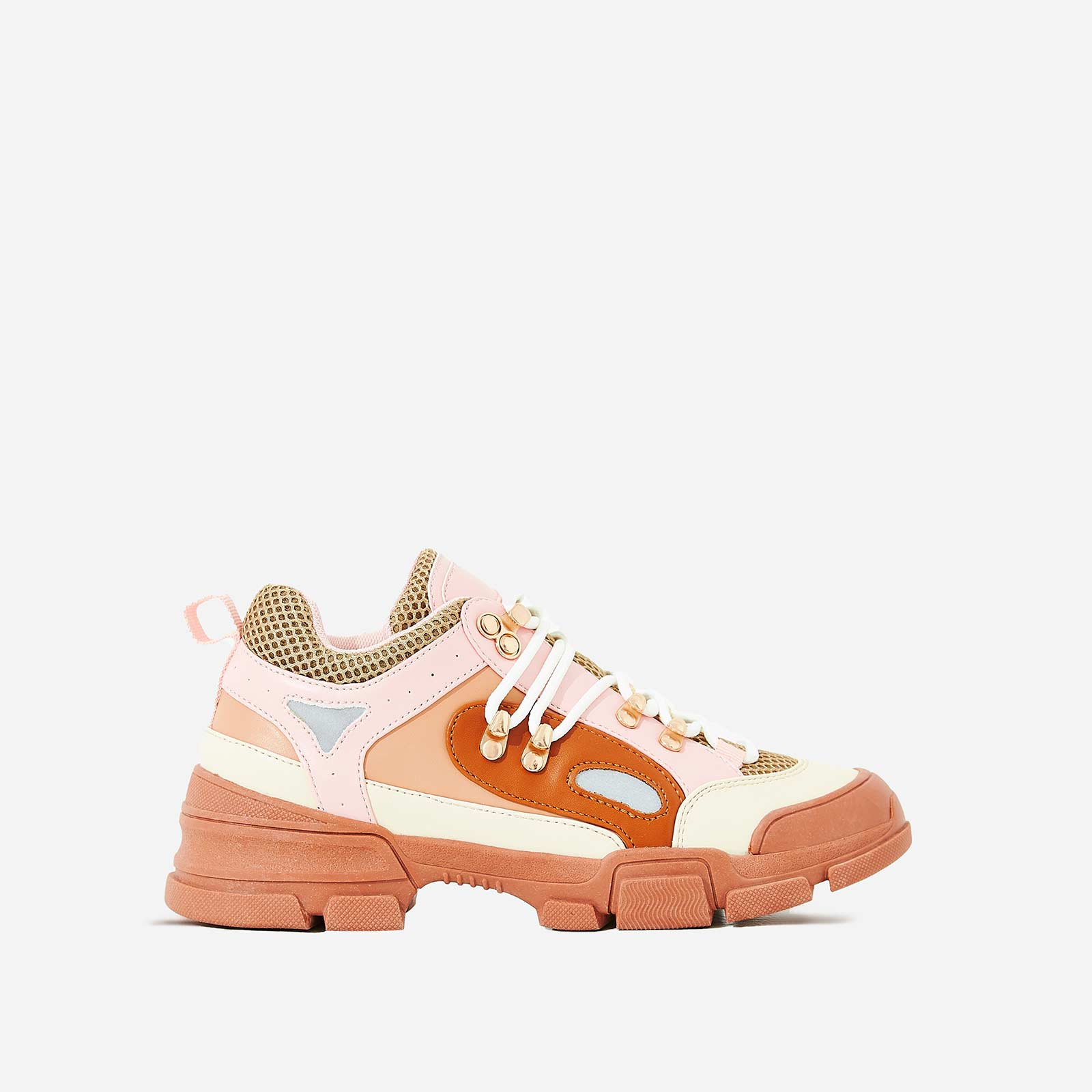 Shorty Hiker Sneaker In Pink Faux Leather