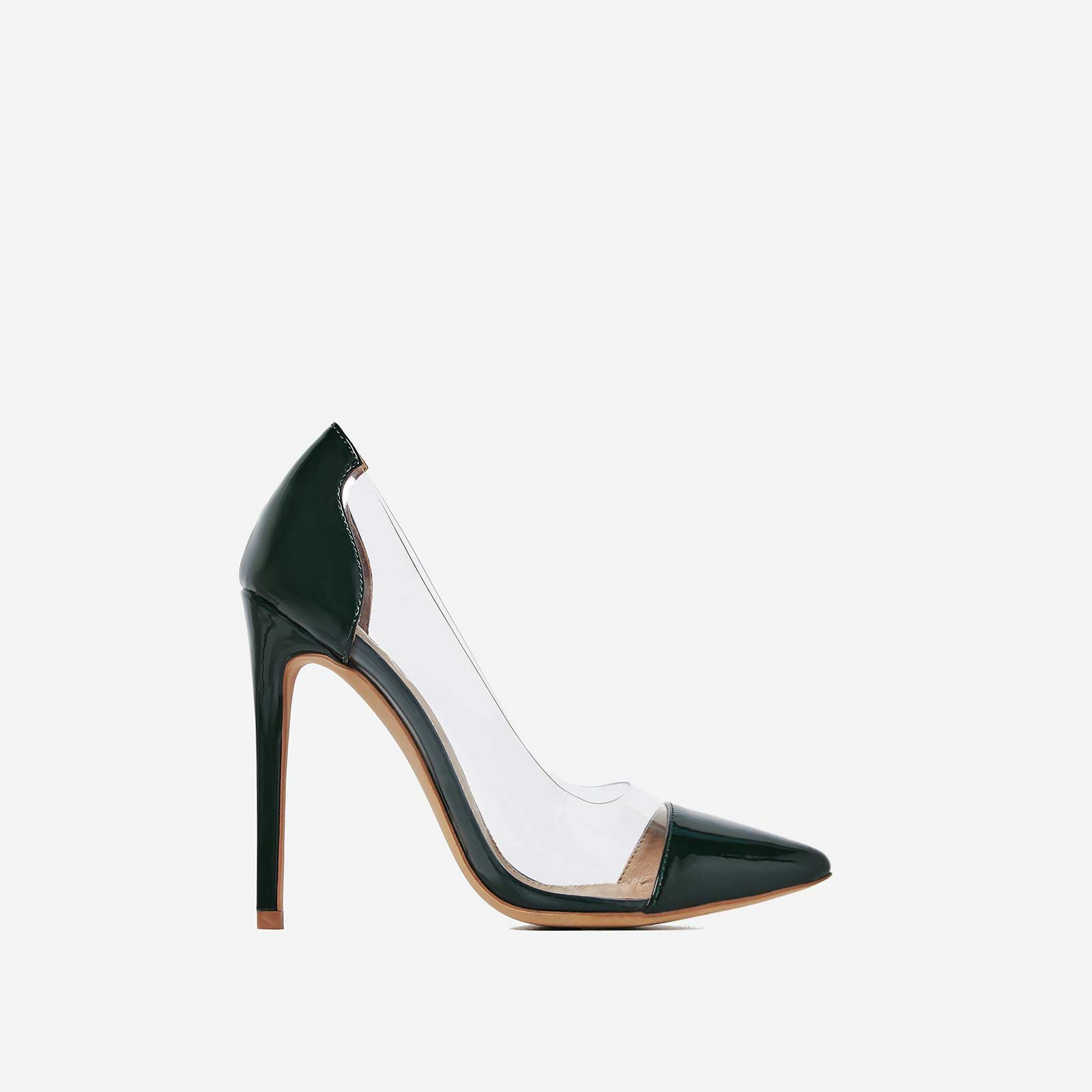 Cici Perspex Court Heel In Green Patent
