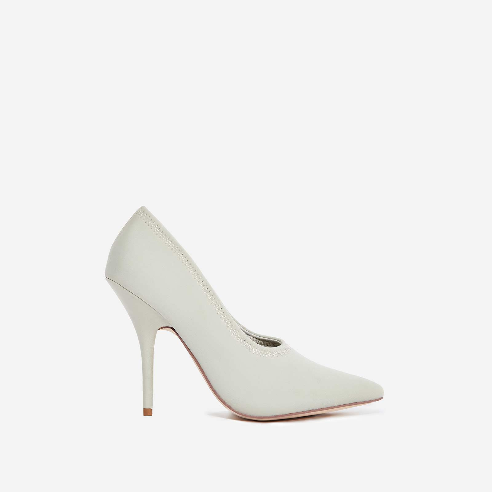 Fabulous Court Heel in Nude Lycra