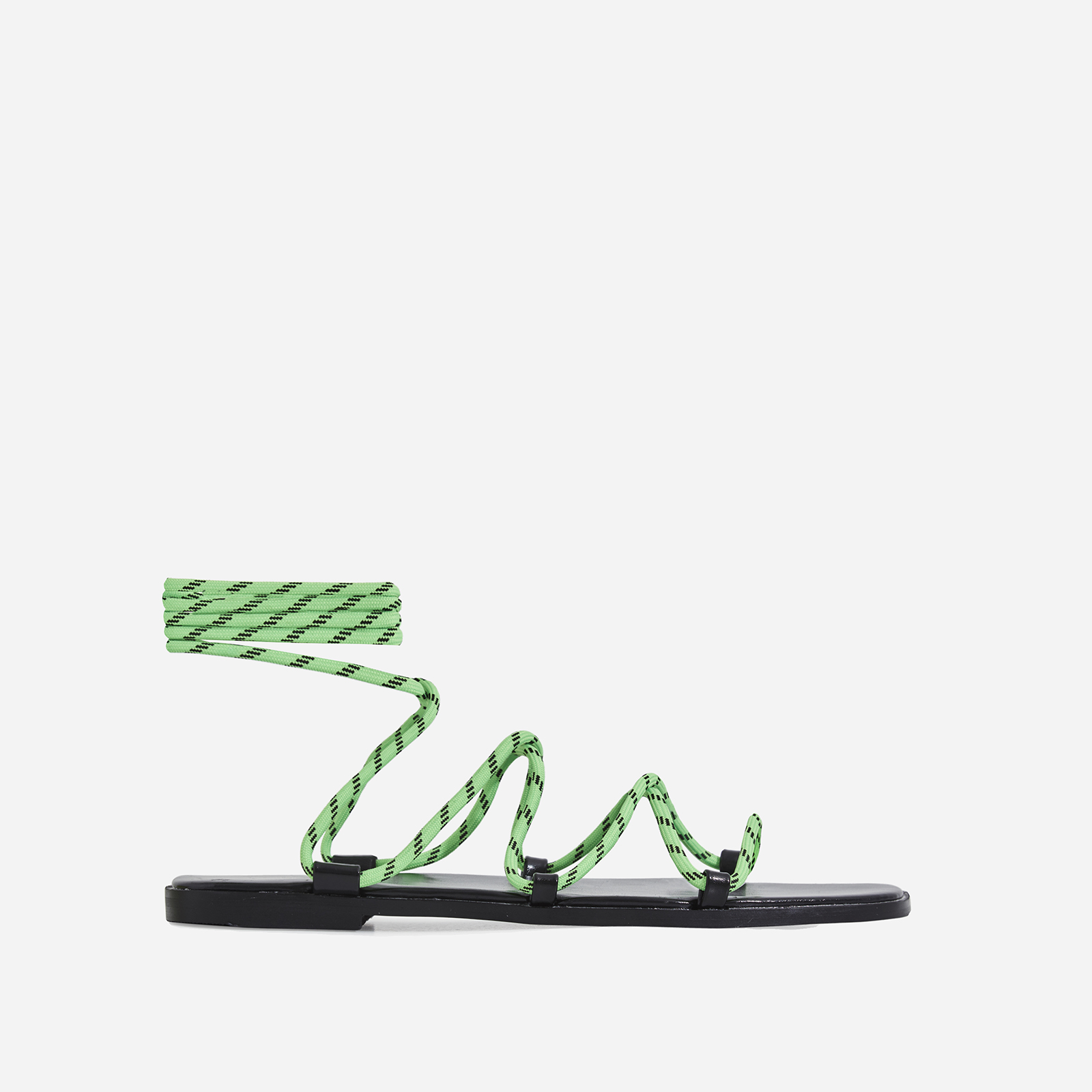 Felix Lace Up Sandal In Green