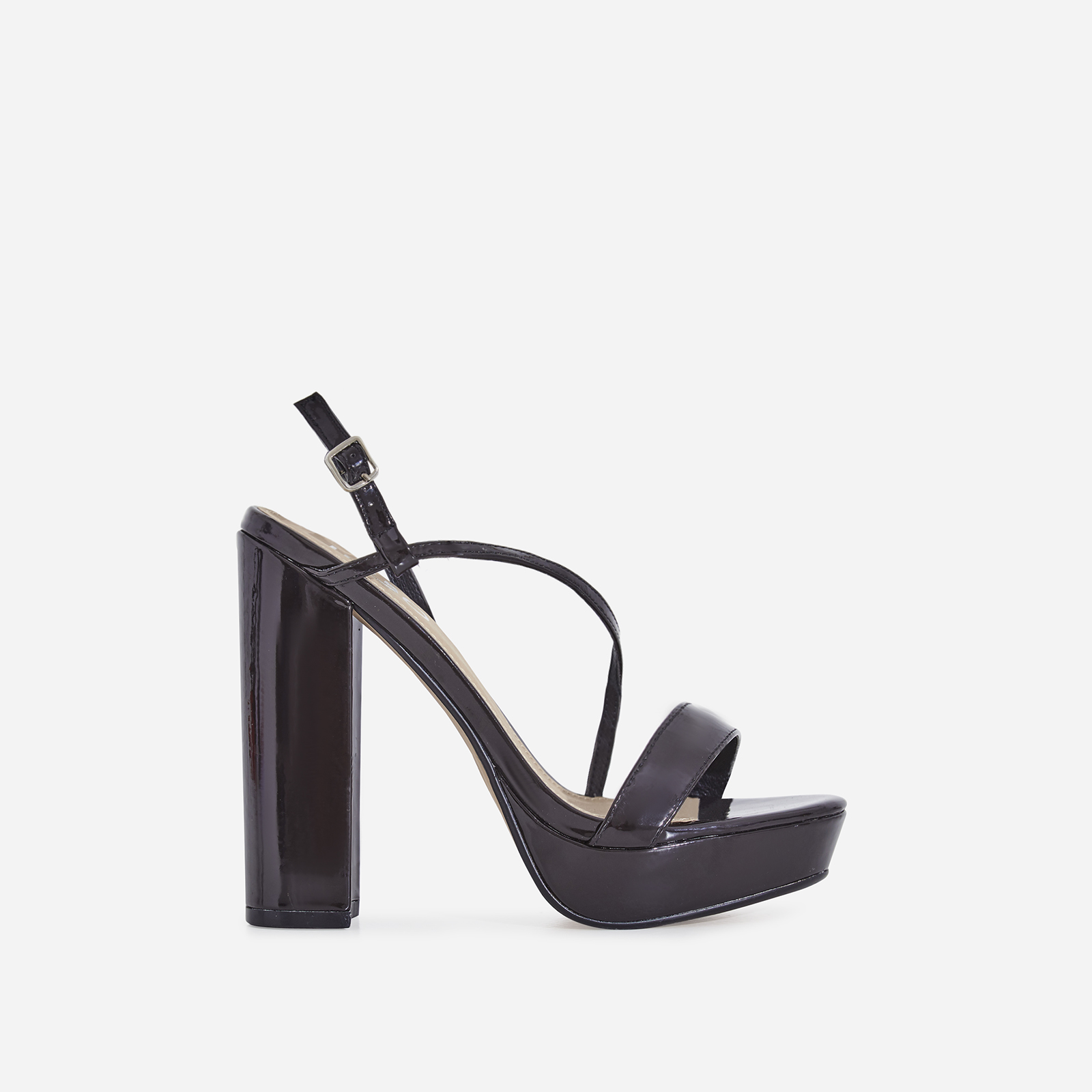 Fit Platform Heel In Black Patent