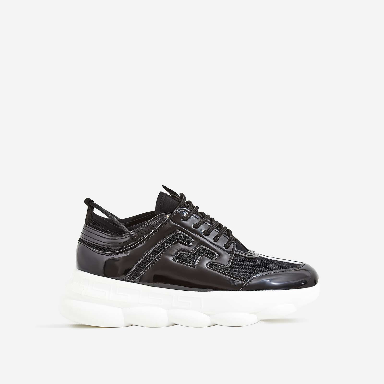 Athena Chunky Sole Trainer In Black