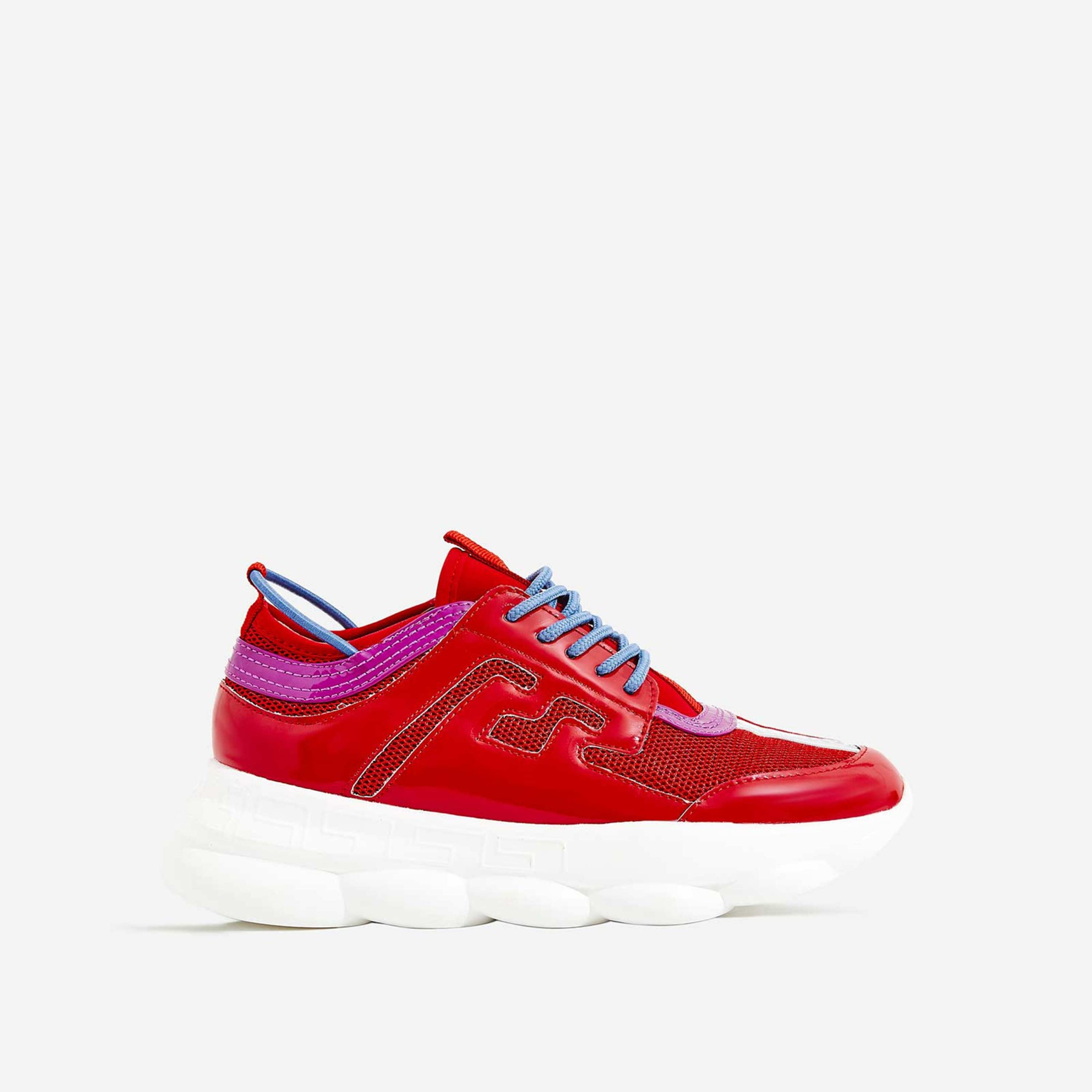Athena Chunky Sole Sneaker In Red