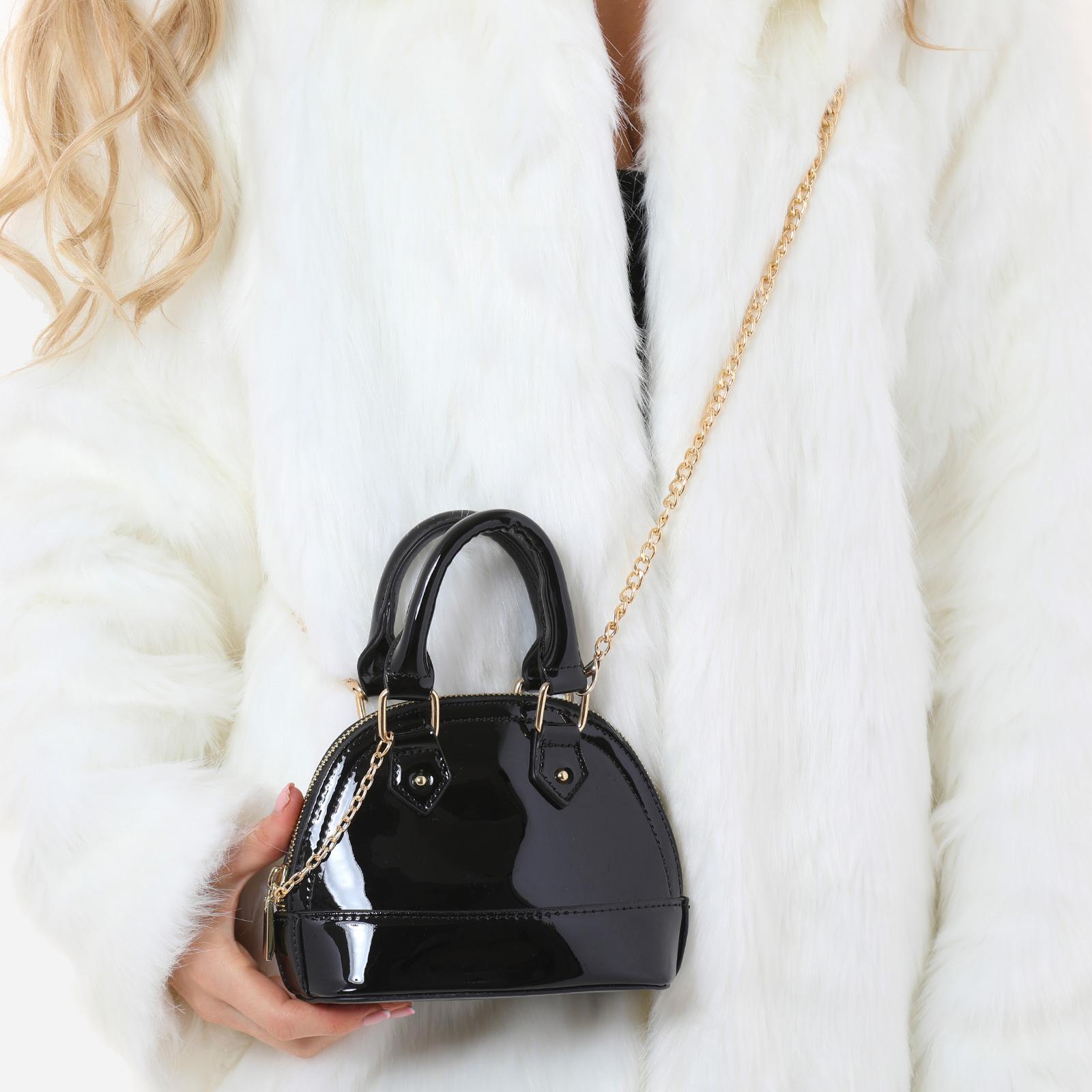 Grab Bag In Black Patent