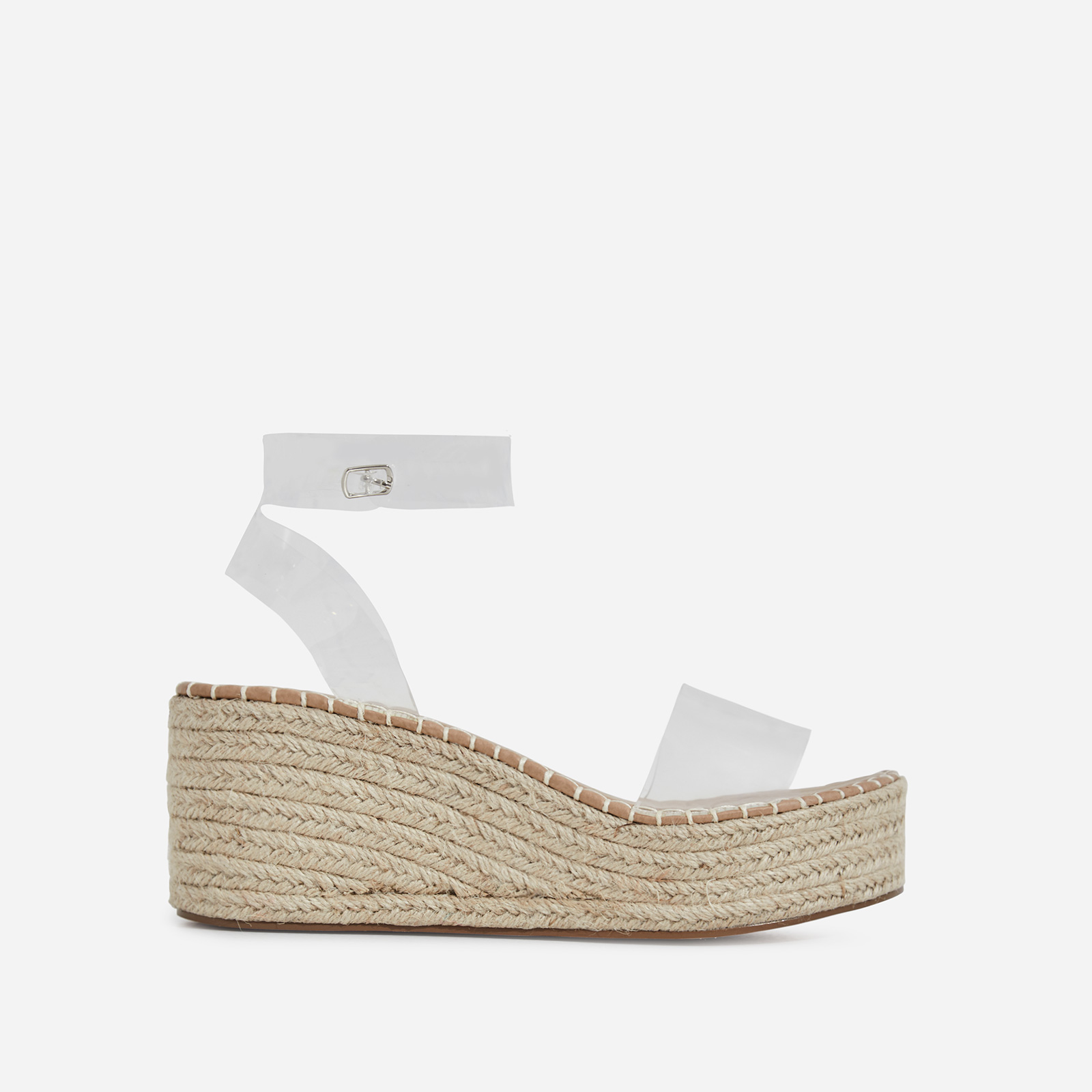 Rossi Espadrille Sandal In Clear Perspex