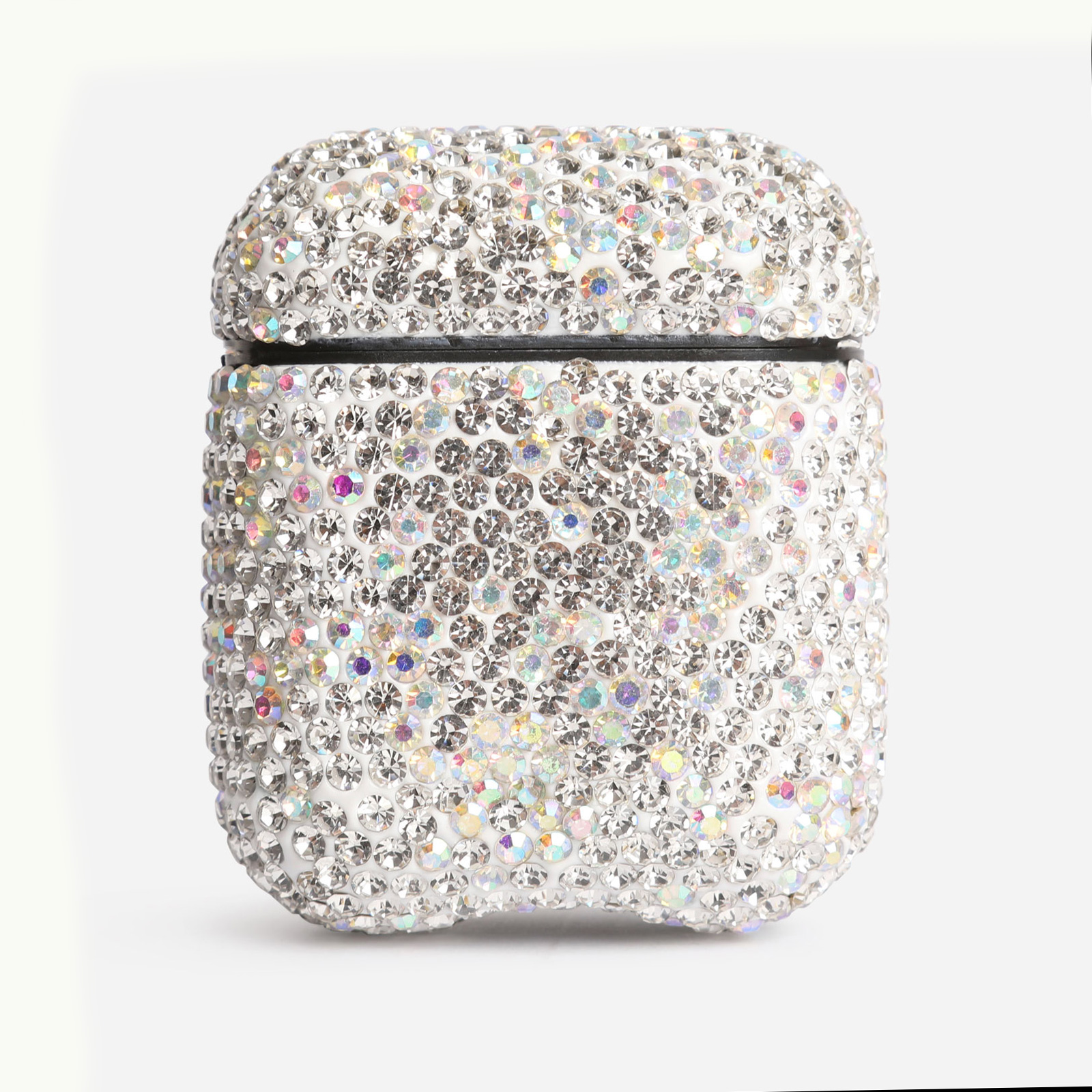 Air Pod Case In Silver Diamante