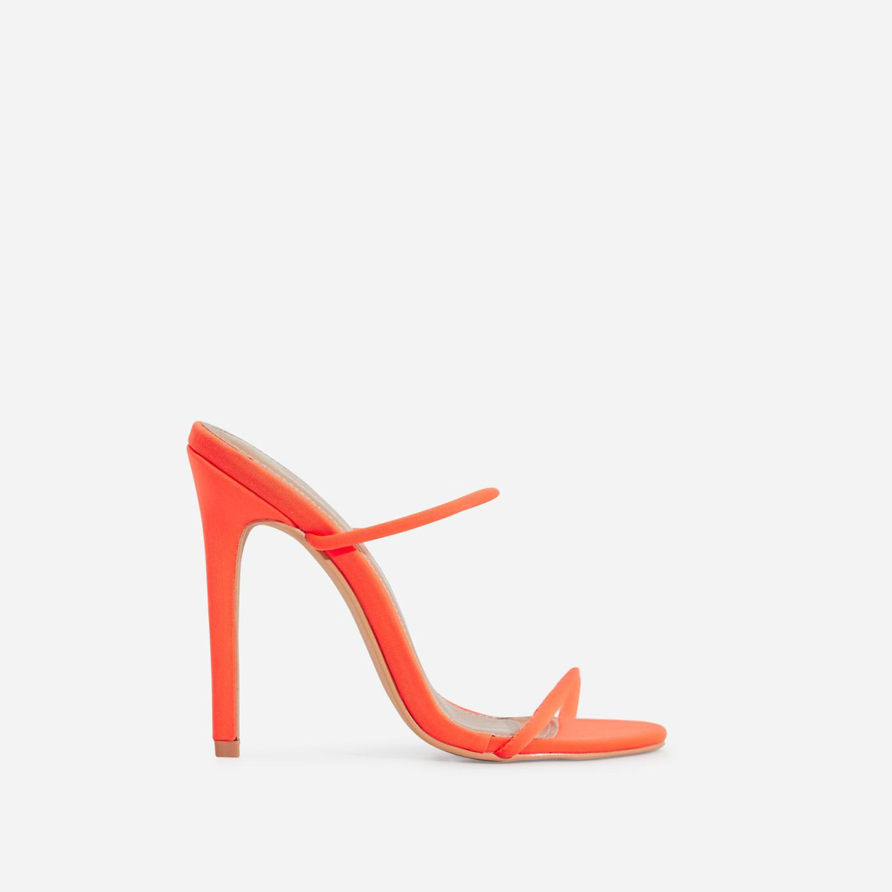 Helix Barely There Mule In Neon Orange Lycra