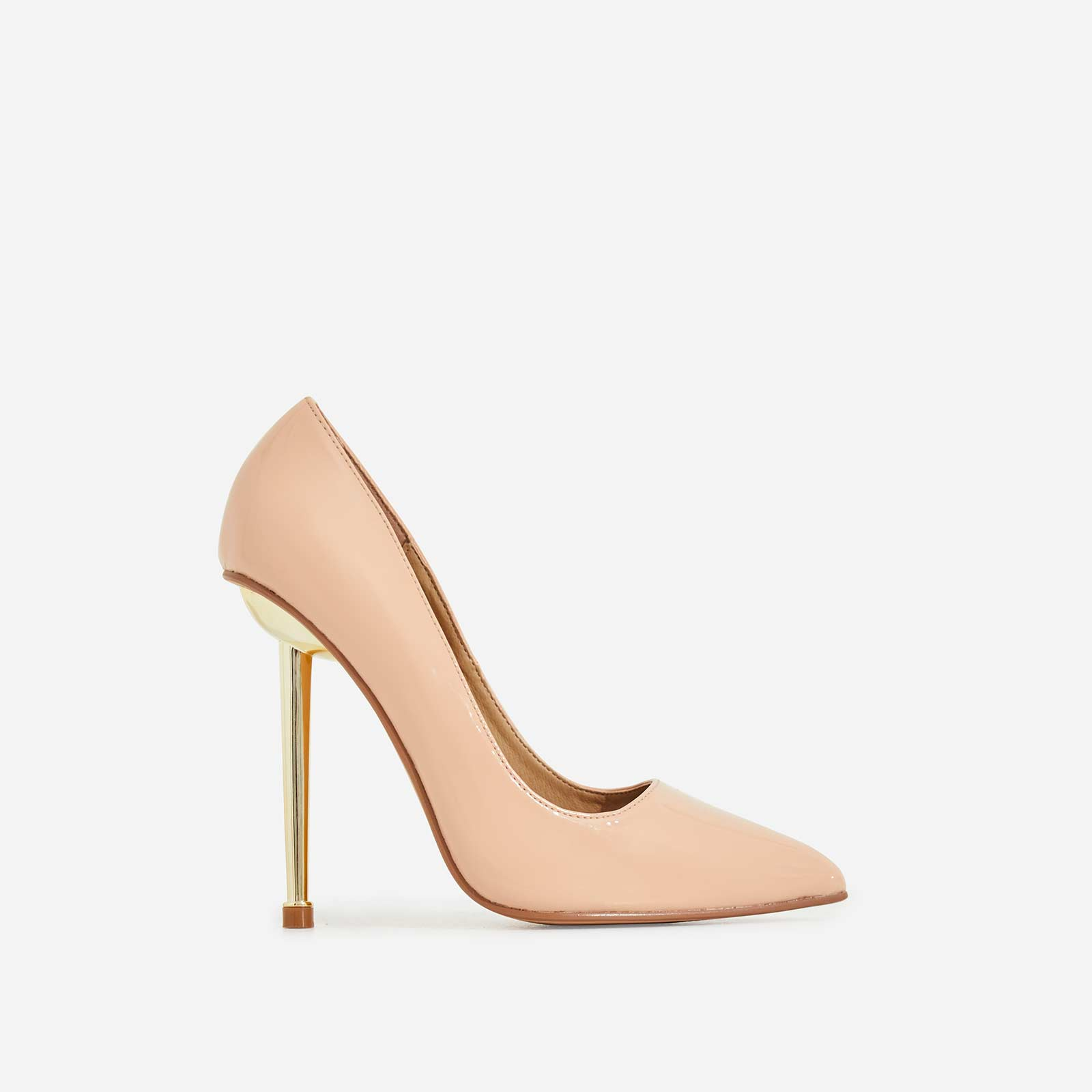 Action Court Heel In Nude Patent