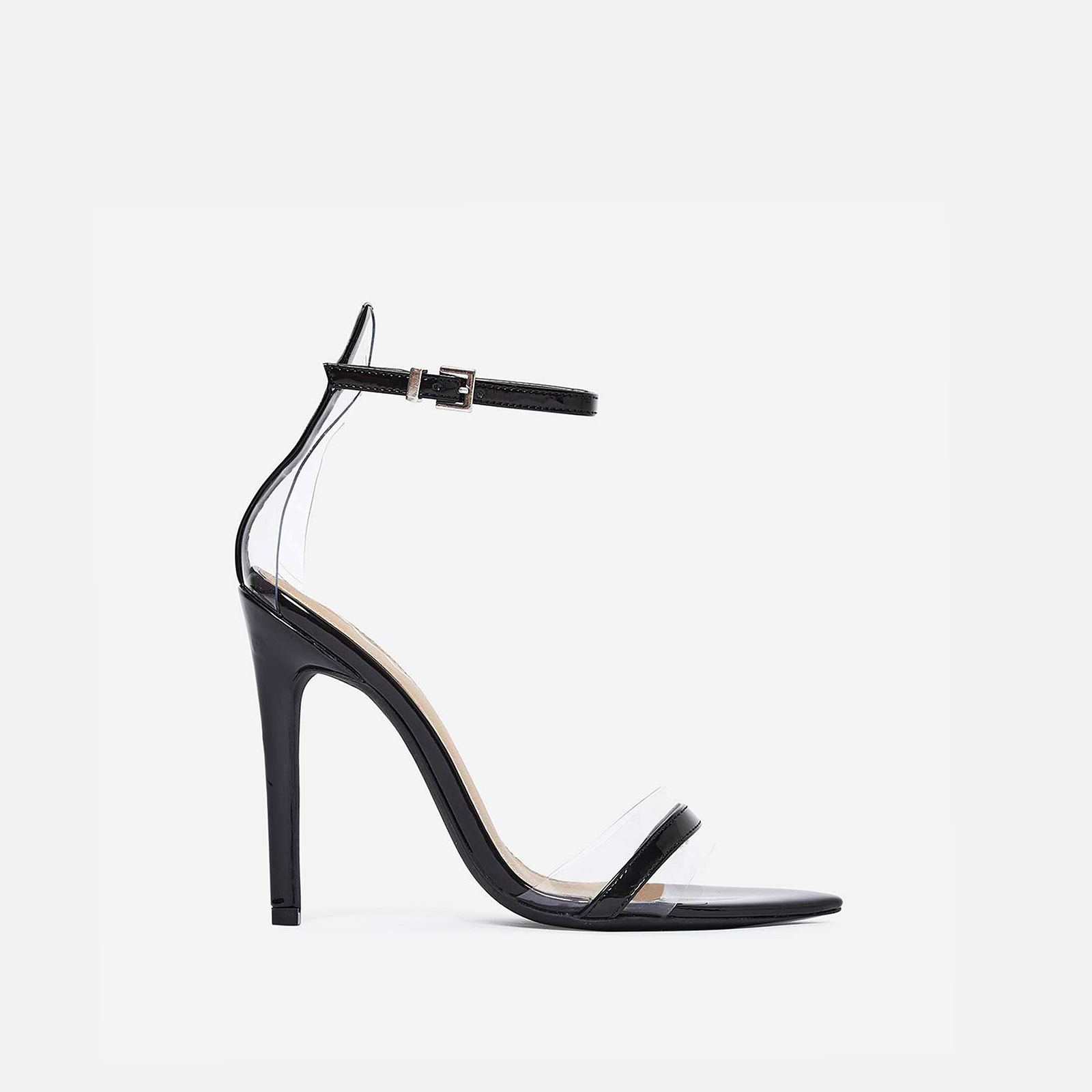 Tessy Perspex Heel In Black Patent