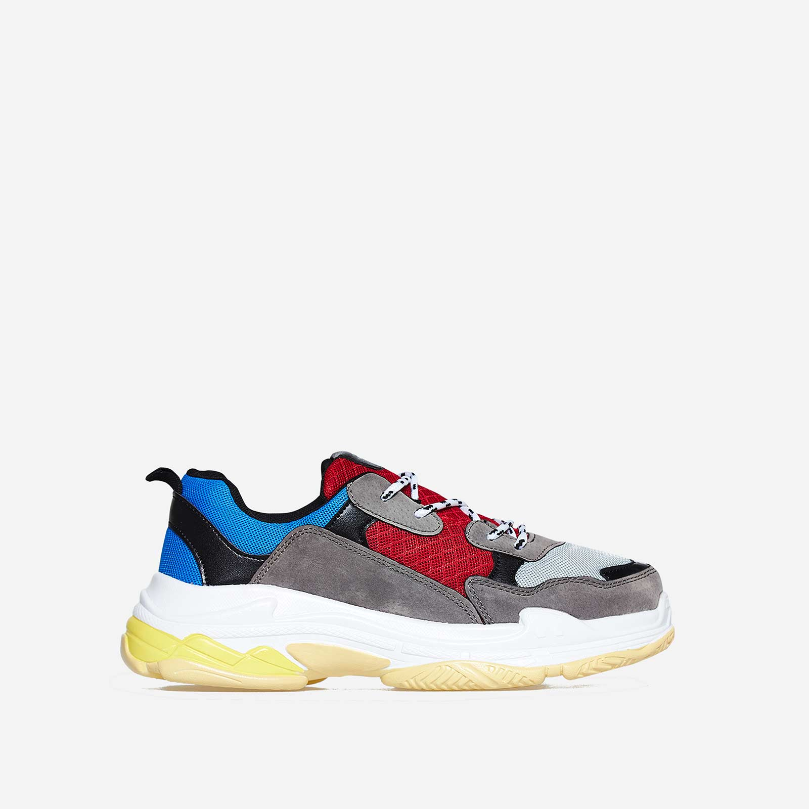 Edison Chunky Sneaker In Blue And Red