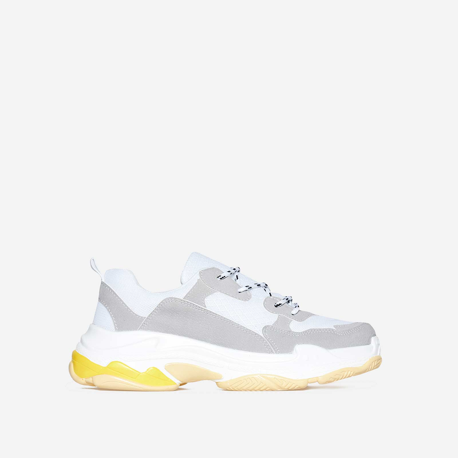 Edison Chunky Sneaker In Grey And White