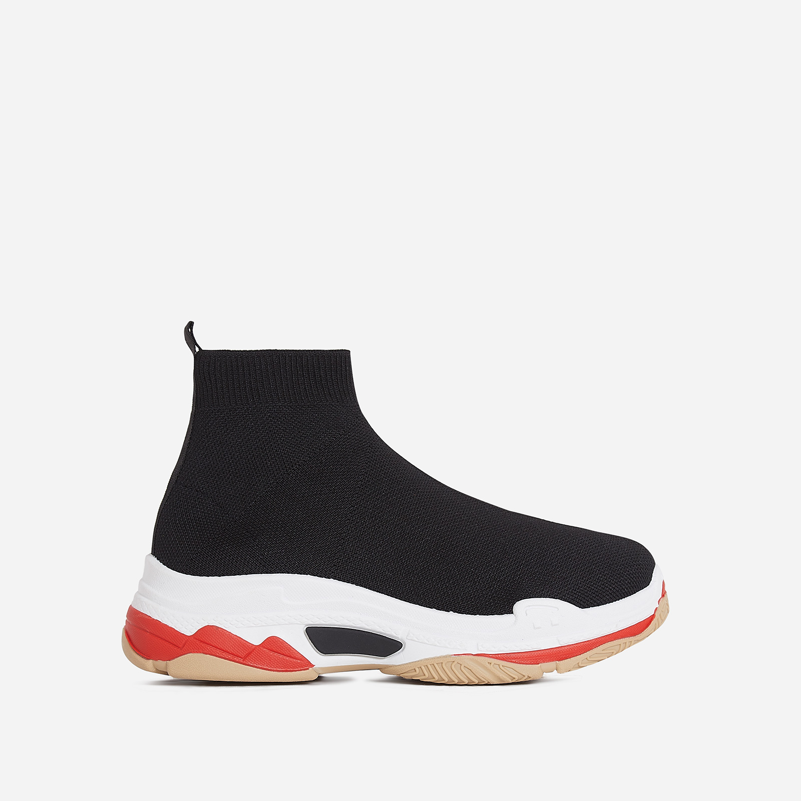 Tidal Chunky Sole Sneaker In Black Knit