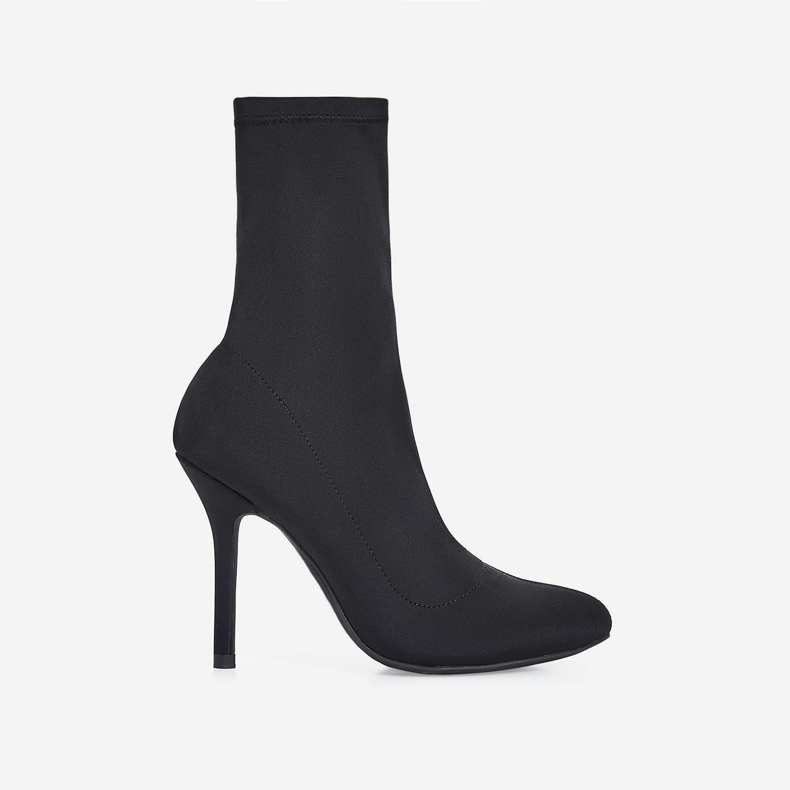 Zab Slouched Ankle Sock Boot In Black Lycra