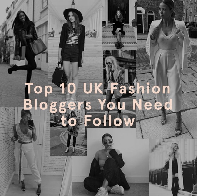 A black and white image of our top 10 UK fashion bloggers